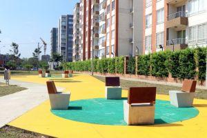 Así lucen las zonas verdes en la Urbanización Lili