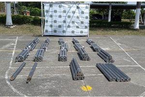 Incautaron 260 kilos de marihuana camuflados en tubos metálicos