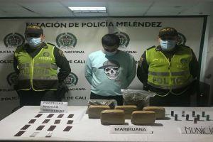 Fue judicializado por transportar paquetes de marihuana y municiones