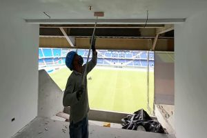 En 45% avanzan obras del centro de negocios del Pascual Guerrero