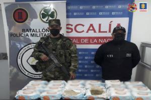 Decomisados 15 kilos de marihuana camuflados en cajas de toallas húmedas